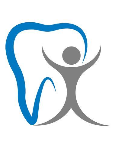 logo per un'illustrazione vettoriale di clinica dentale
