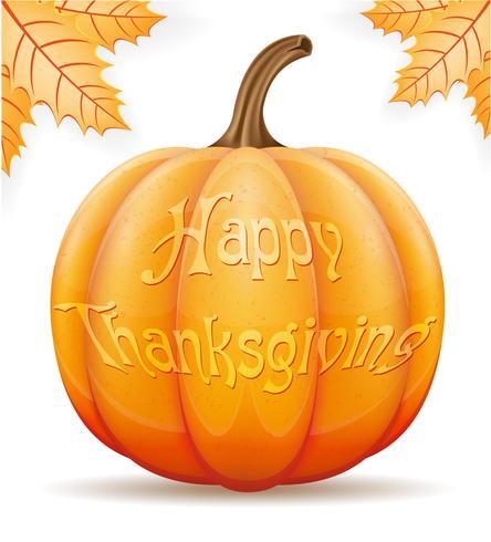 illustration vectorielle de citrouille thanksgiving
