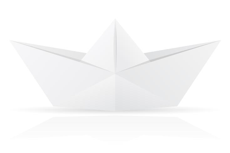 illustrazione vettoriale di barca di carta origami
