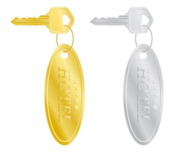 sleutels hotel deurslot vectorillustratie