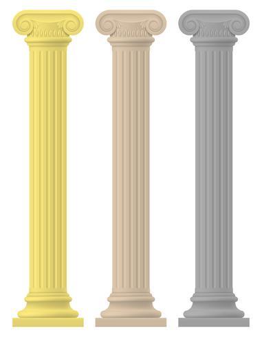 columna antigua ilustración vectorial de stock vector