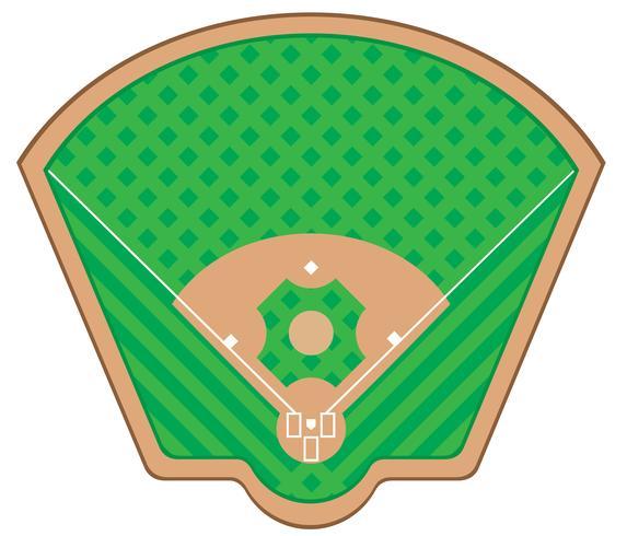 honkbal veld vectorillustratie