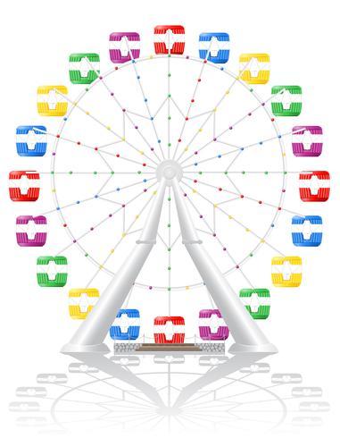 ilustração do vetor de roda gigante