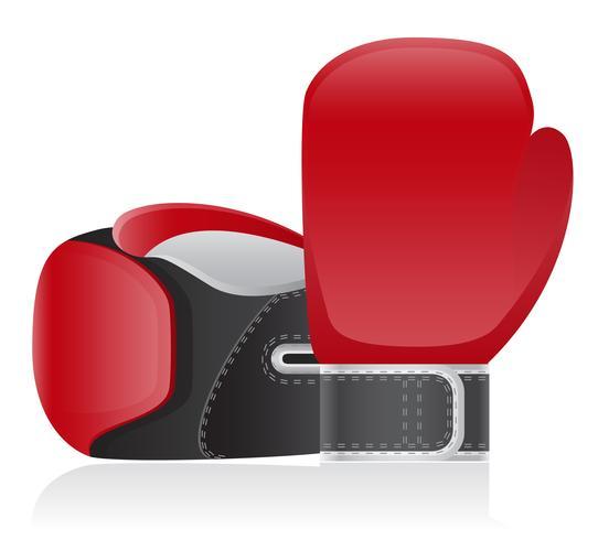 illustration vectorielle de gants de boxe vecteur