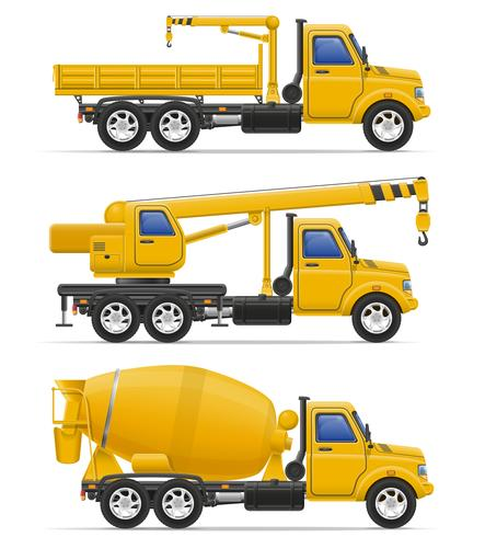 cargo trucks intended for construction vector illustration