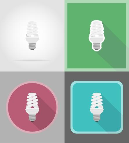 bombilla plana iconos vector illustration