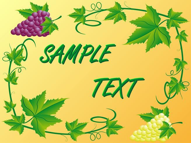 dekoratives Muster von weiße rote Trauben und Blätter