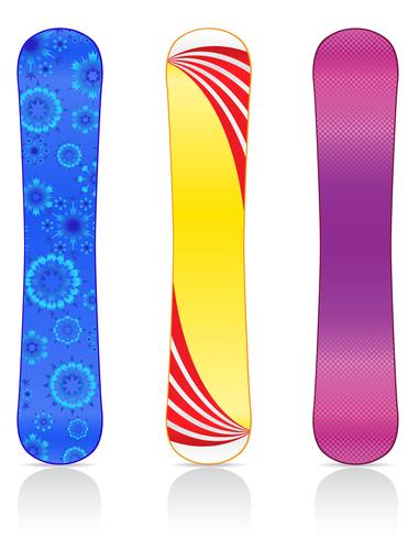 boards for snowboarding vector illustration
