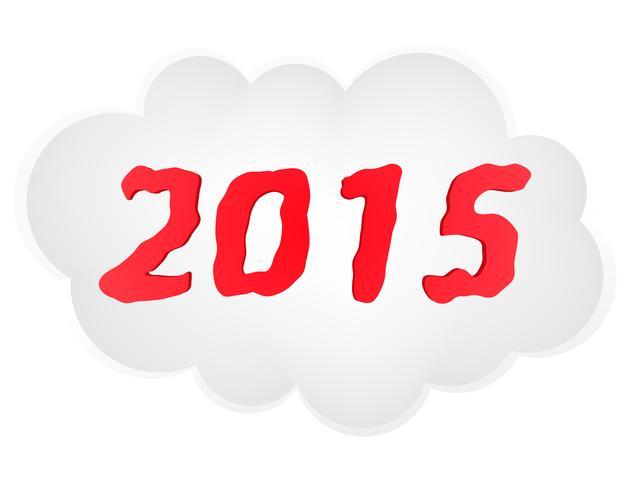 ano novo ilustração vetorial de nuvem