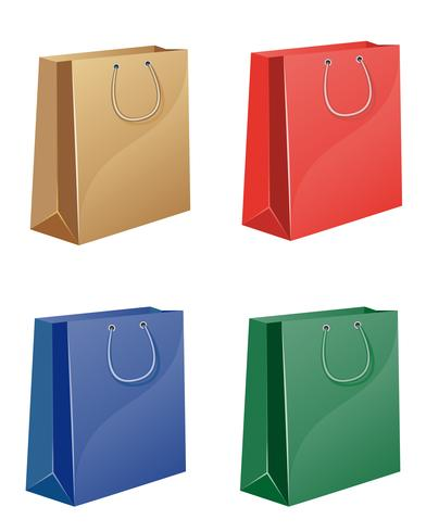 coloured shopping bag vector