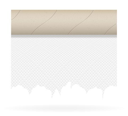 ilustração em vetor papel higiênico pedaço