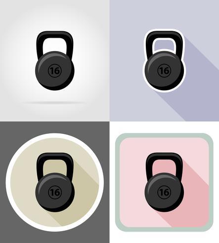 peso icone piane illustrazione vettoriale