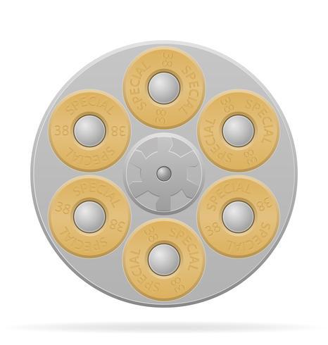 illustrazione vettoriale cilindro revolver