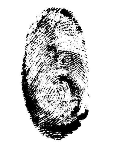 ilustración vectorial de huella digital negro vector