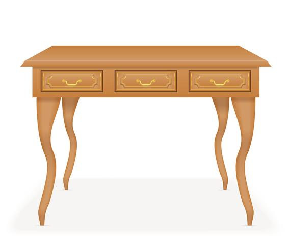 wooden table furniture vector illustration