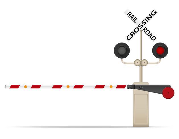 railroad crossing vector illustration