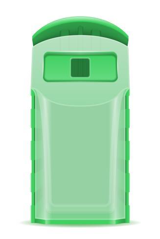 illustration vectorielle de poubelle en plastique tri vecteur