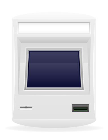 terminal pour recevoir des paiements en espèces vector illustration
