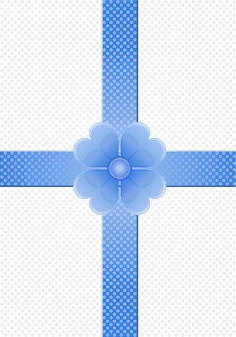 gray background with blue stripes and a flower