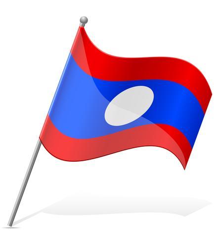 Flagge der Laos-Vektor-Illustration