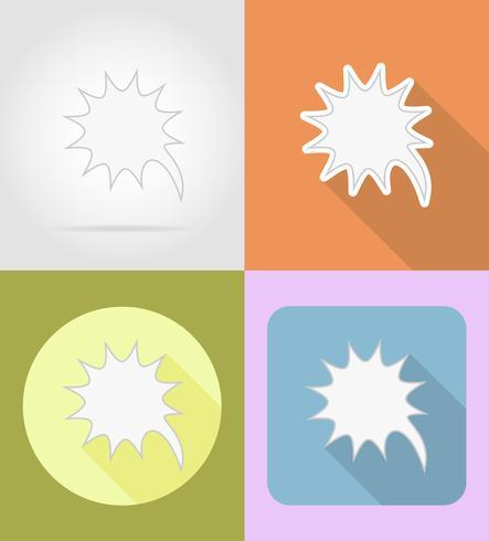 speech bubbles flat icons vector illustration