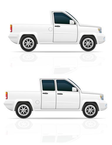 car pick-up vector illustration