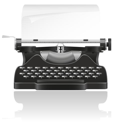 vieja máquina de escribir vector illustration