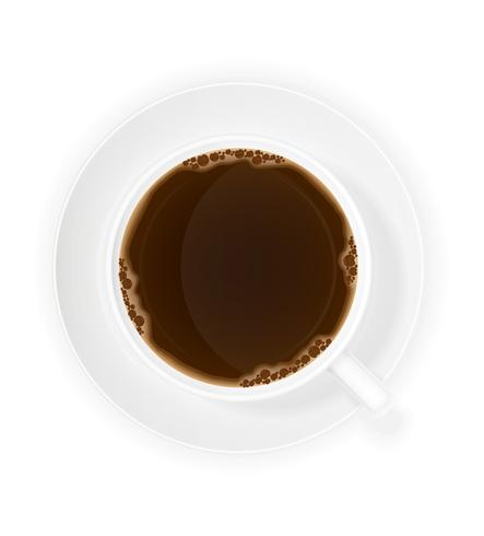 cup of coffee top view vector illustration