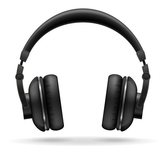 auriculares acústicos vector illustration