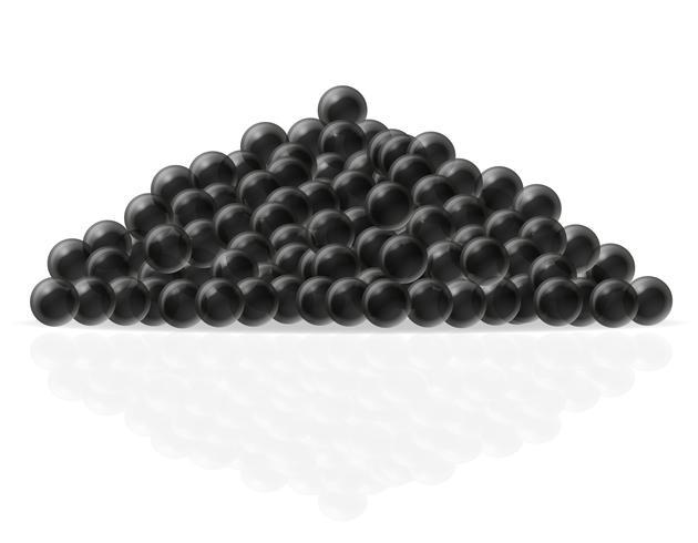 ilustração em vetor caviar preto