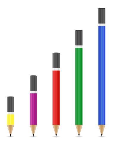 skärpad pennor vektor illustration