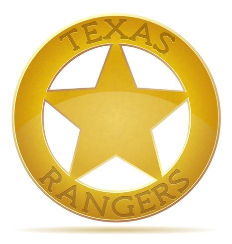 Ilustración de vector de estrella texas ranger