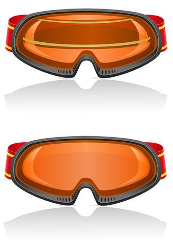 Ilustración de vector de gafas de esquí