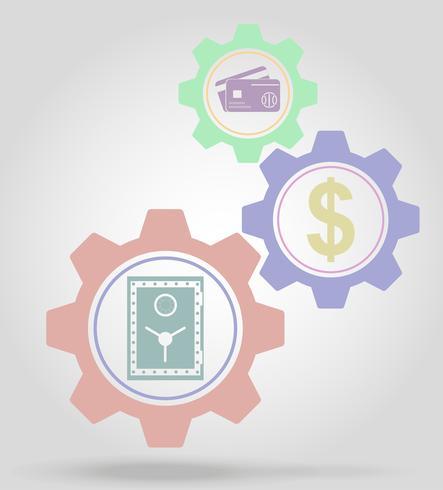 Ilustración de vector de concepto de mecanismo de engranaje de finanzas
