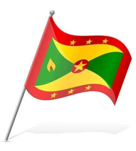 Bandera de Granada ilustración vectorial