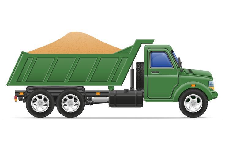 Entrega de camiones de carga y transporte de materiales de construcción concepto vector illustration