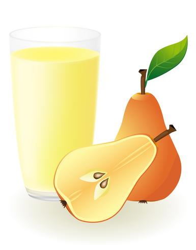 illustration vectorielle de jus de poire