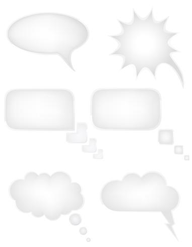 conjunto de ícones fala bolhas sonhos ilustração vetorial