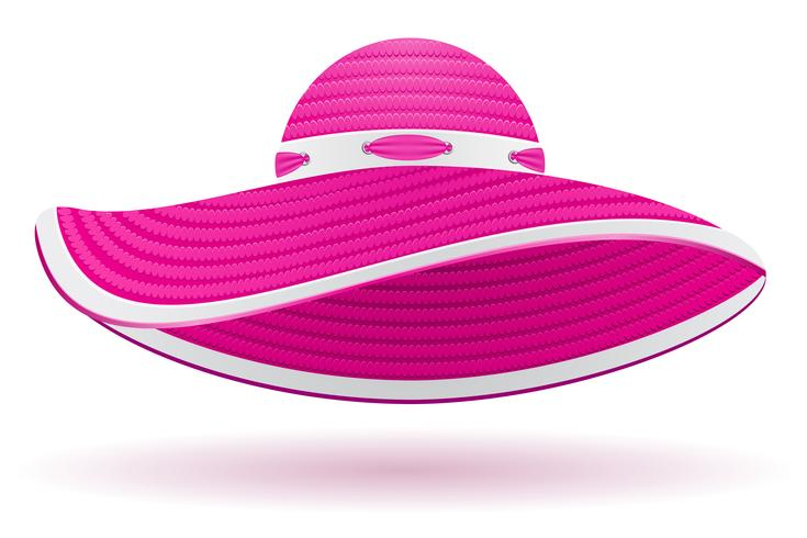 strand hatt vektor illustration