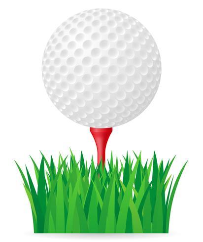 illustration vectorielle de balle de golf