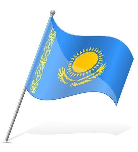 drapeau du Kazakhstan illustration vectorielle