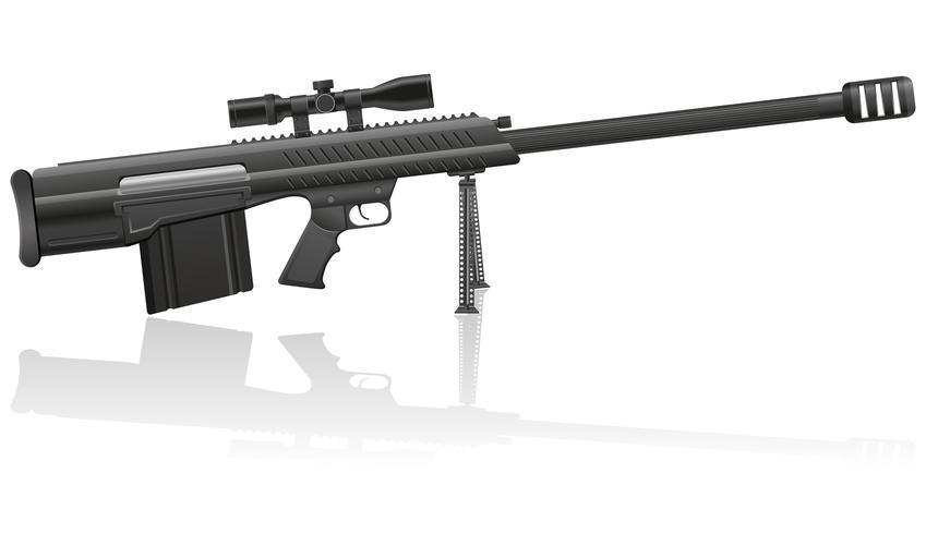 Ilustración de vector de rifle de francotirador
