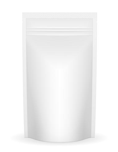weiße Verpackungsfolie für Ketchup- oder Soßenvektorillustration