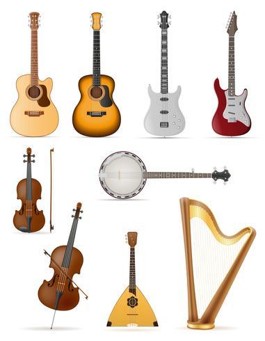 illustration vectorielle stock d'instruments de musique à cordes vecteur