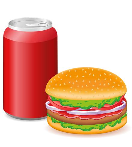 hamburguesa y soda vector