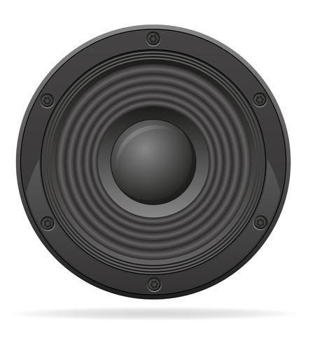 acoustic speaker vector illustration