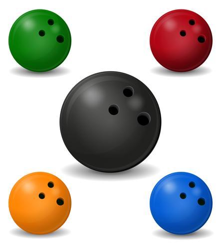 Ilustración de vector de bola de boliche