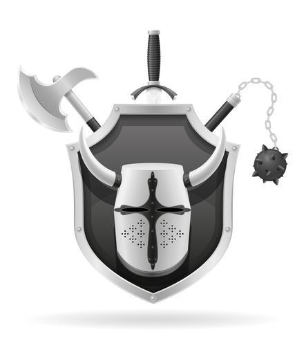 oude strijd wapens voorraad vectorillustratie