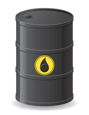 black barrel for oil vector illustration