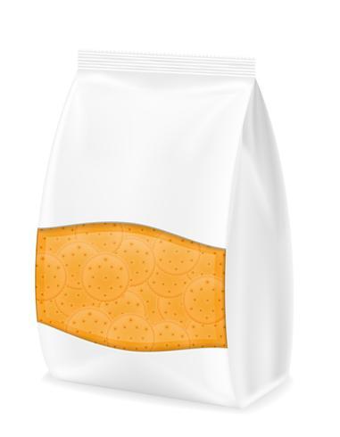 biscoito em ilustração vetorial de embalagem